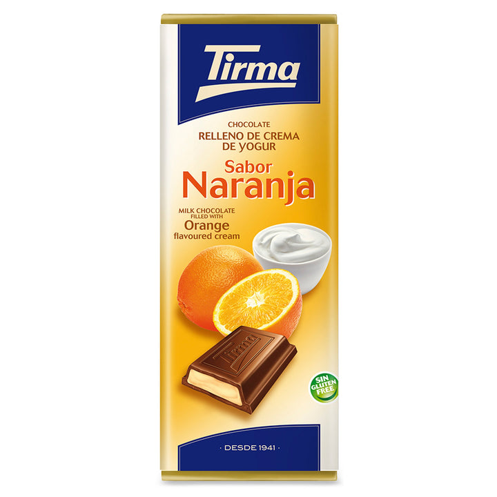 Tirma Milk chocolate filled with Orange Flavoured Yogurt Cream