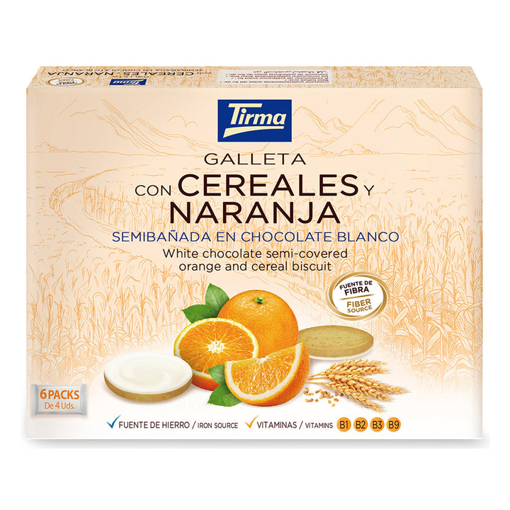Tirma Orange Cereal Biscuit with White Chocolate