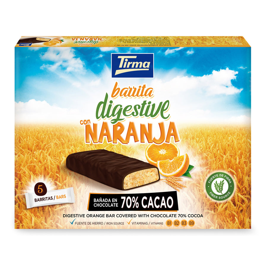 Tirma Orange Digestive Bar Covered with Chocolate