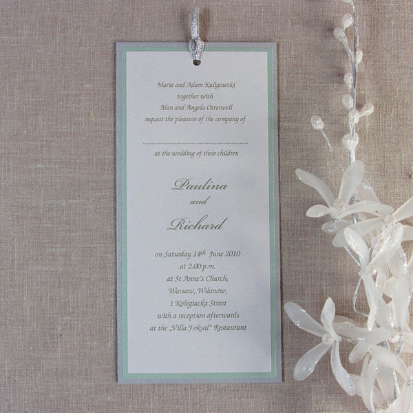 Silver Pocket Evening Invitation