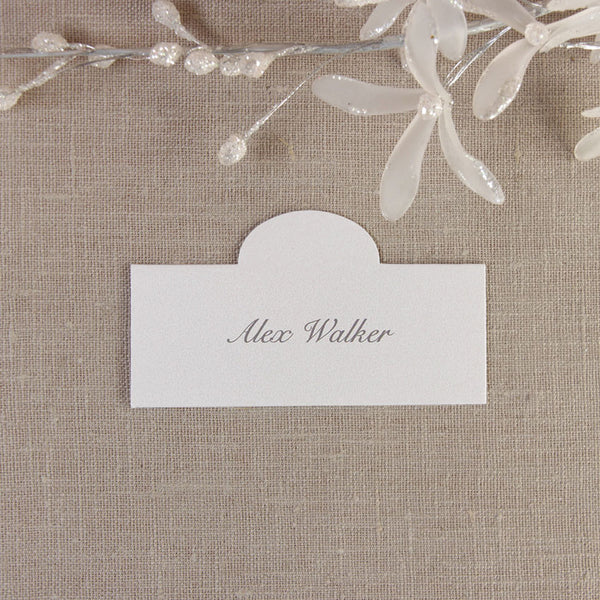 Silver Pocket Place Card