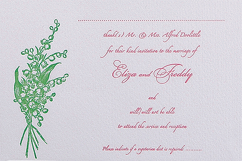 Lily of the Valley Save the Date / Thank You / Reply Card