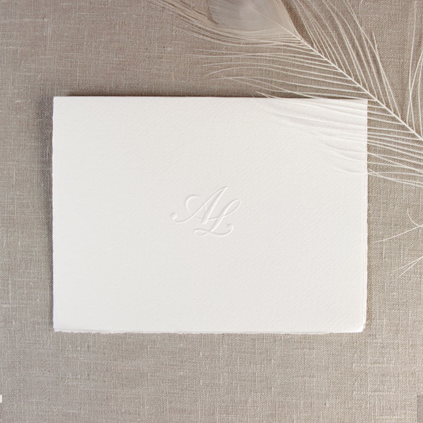 Traditional White Evening Invitation