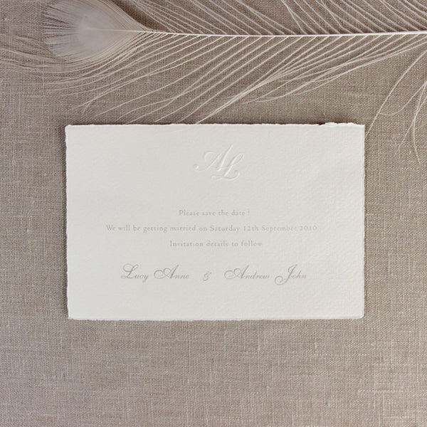 Traditional White Save the Date / Thank You / Reply Card