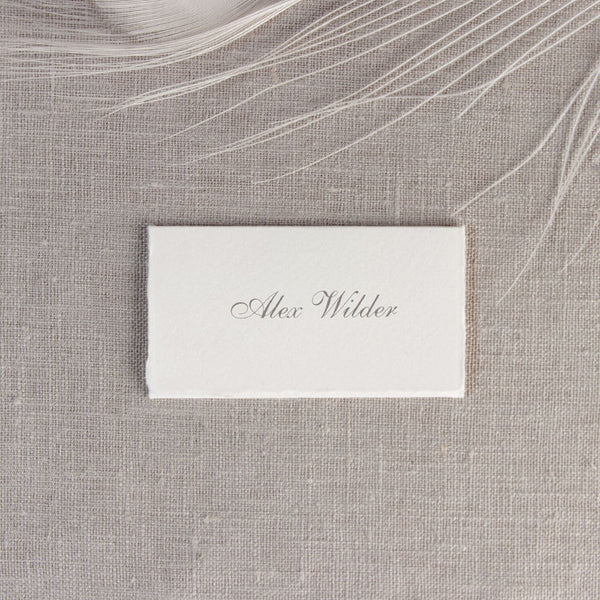 Traditional White Place Card