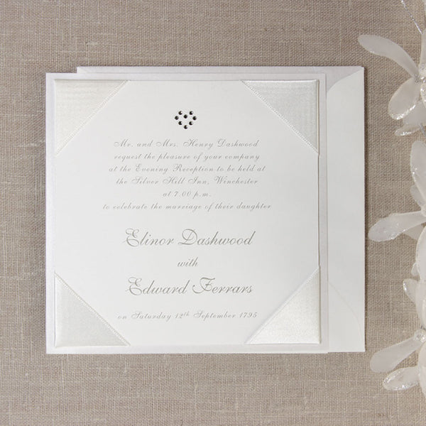 Satin Square Evening Invitation