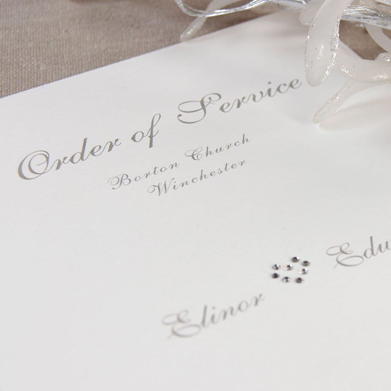 Satin Square Order of Service / Menu