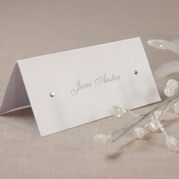Satin Square Place Card