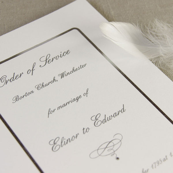 Silver Edge Order of Service / Menu