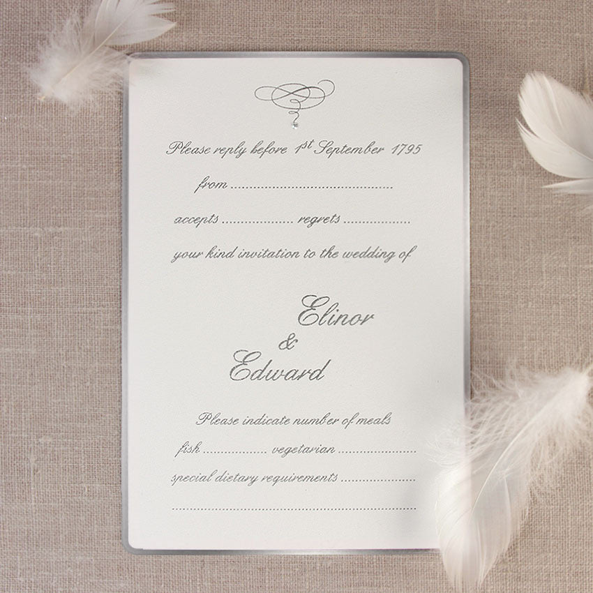 Silver Edge Evening Invitation