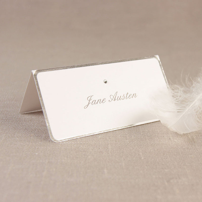 Silver Edge Place Card