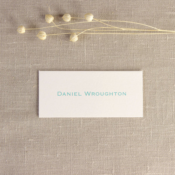 Mint Letterpress Place Card
