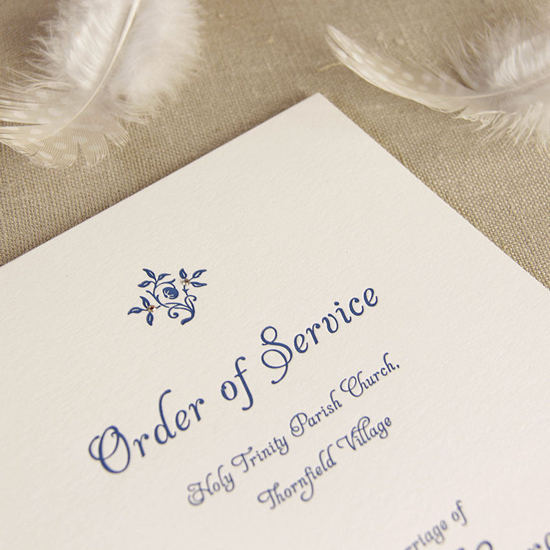 Letterpress Pastel Order of Service/Menu