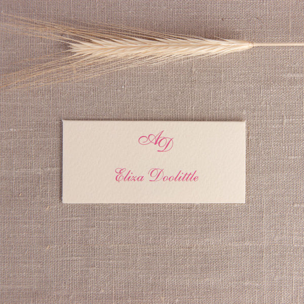 Pink Laurel Place Card