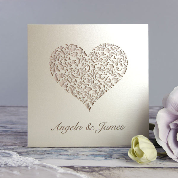 A Lace Heart Day Invitation