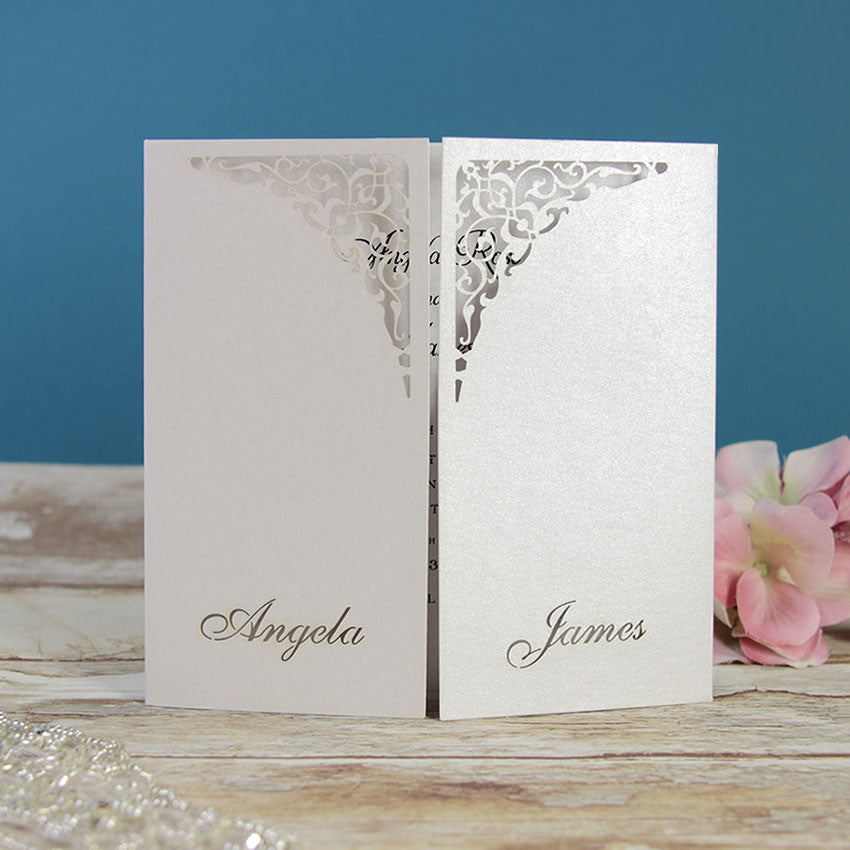 White Gate Lace Evening Invitation