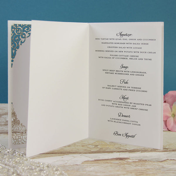 White Gate Lace Order of Service / Menu