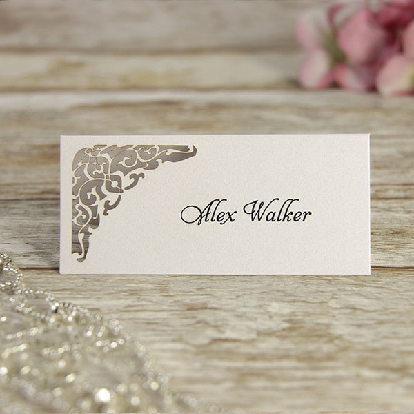 White Gate Lace Place Card