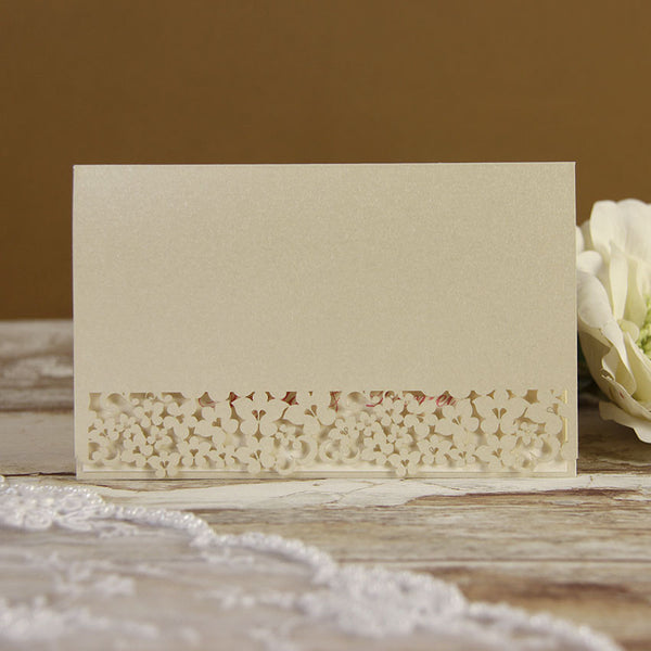White Floral Lace Thank you / RSVP / Save the Date Card