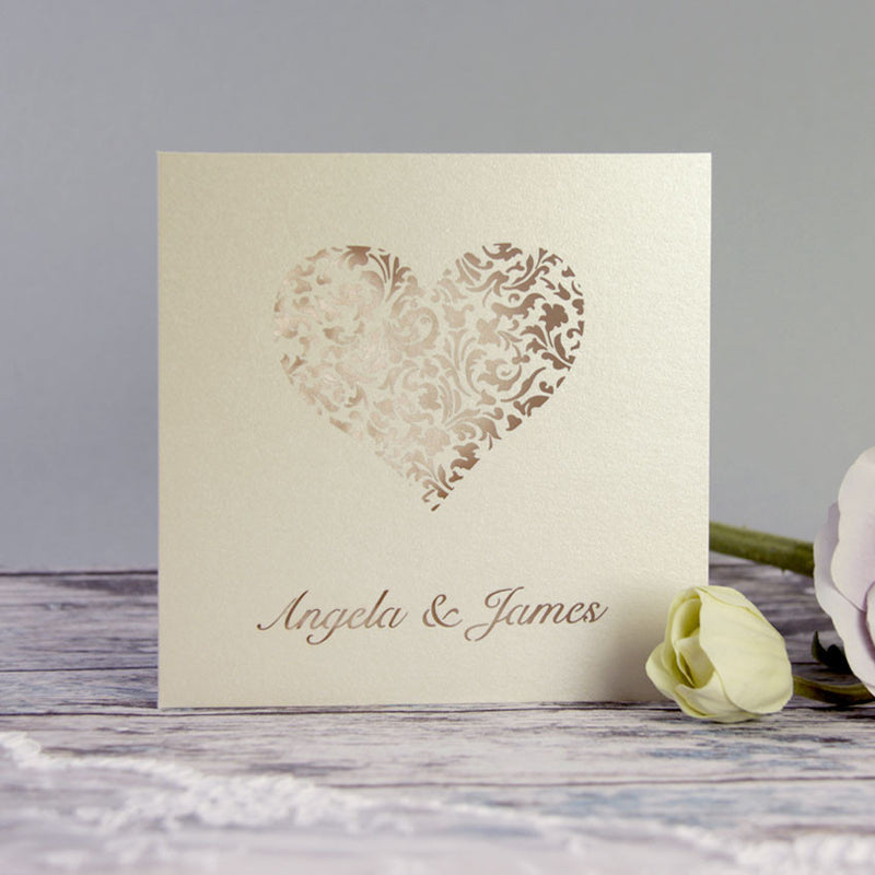 A Lace Heart Evening Invitation