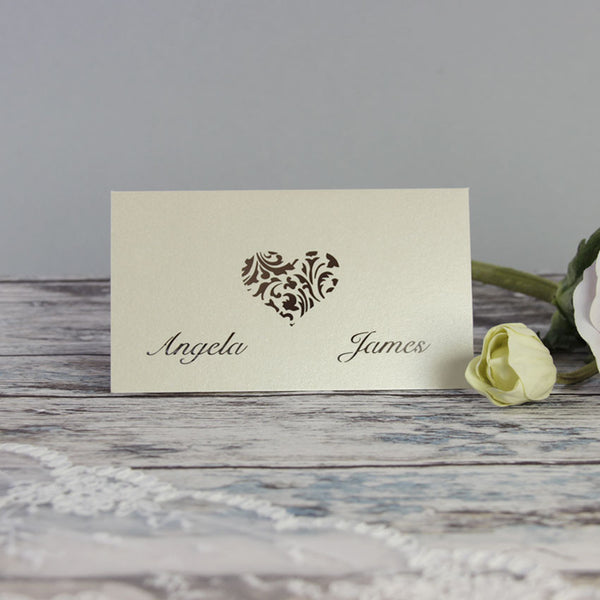 A Lace Heart Save the Date / Thank You / Reply Card