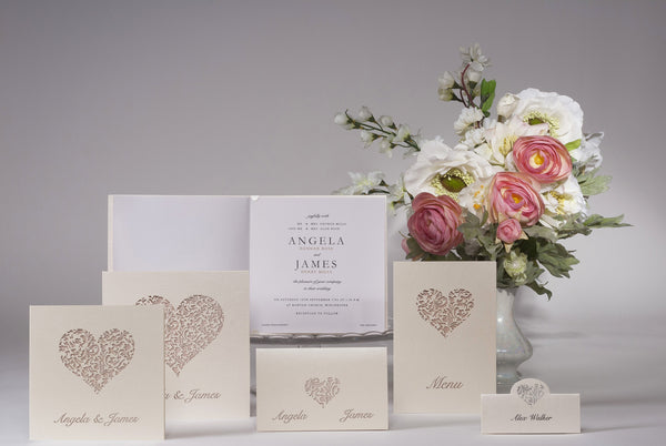 A Lace Heart Day Invitation Set