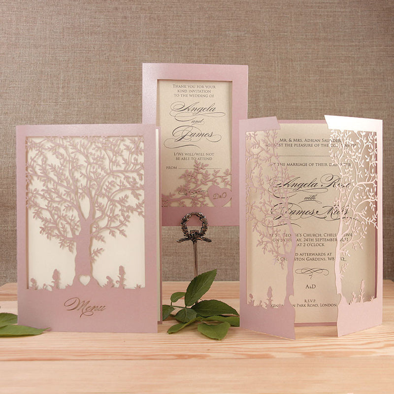Square Tree Evening Card