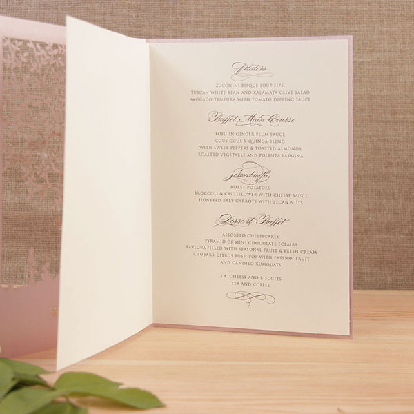 Intricate Tree Laser Cut Order of Service/Menu