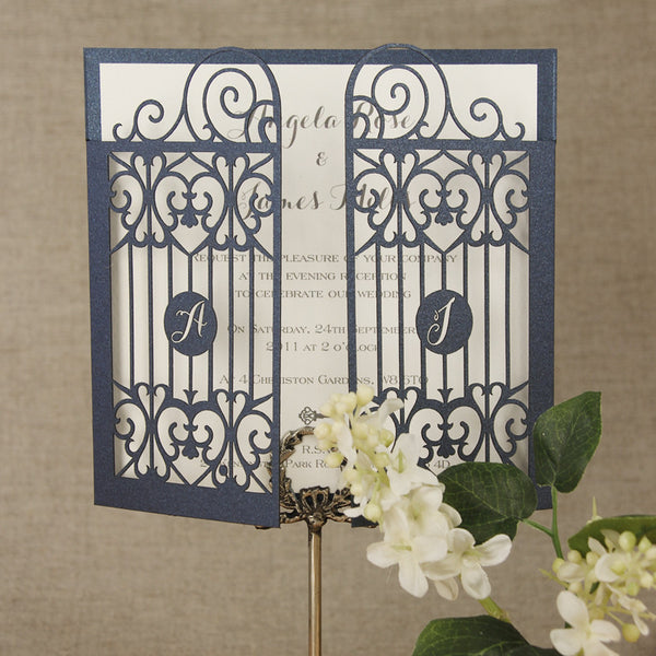 Ornamental Gate Laser Cut Evening Invitation