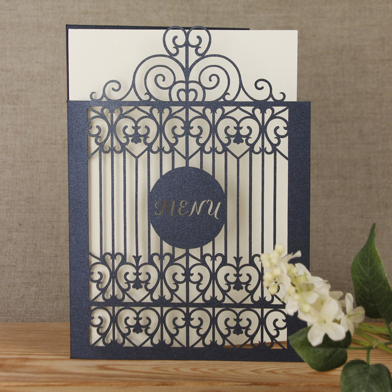 Ornamental Gate Laser Cut Menu / Order of Service