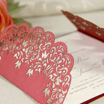 Intricate Lace Laser Cut Gatefold Wedding Evening Invitation