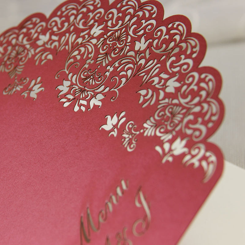 Intricate Lace Laser Cut Order of Service / Menu