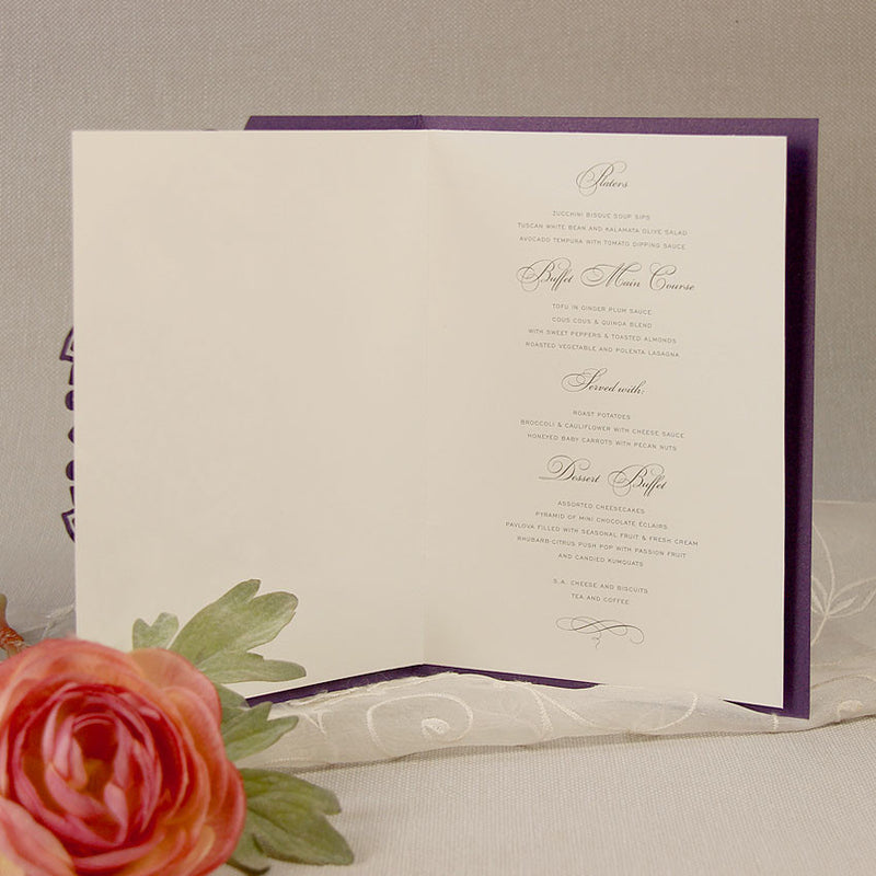 Intricate Filigree Lace Laser Cut Order of Service / Menu