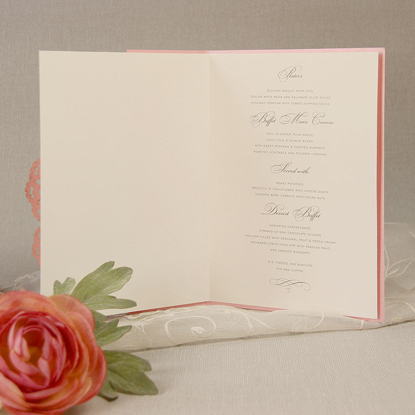 Filigree Lace Laser Cut Order of Service / Menu