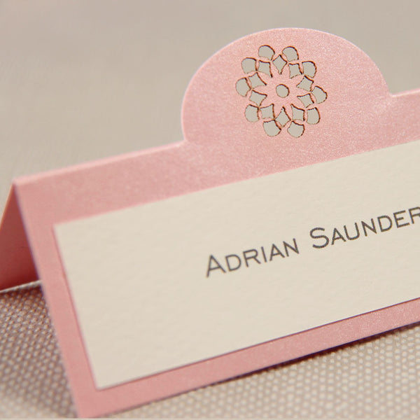 Filigree Lace Laser Cut Place Card