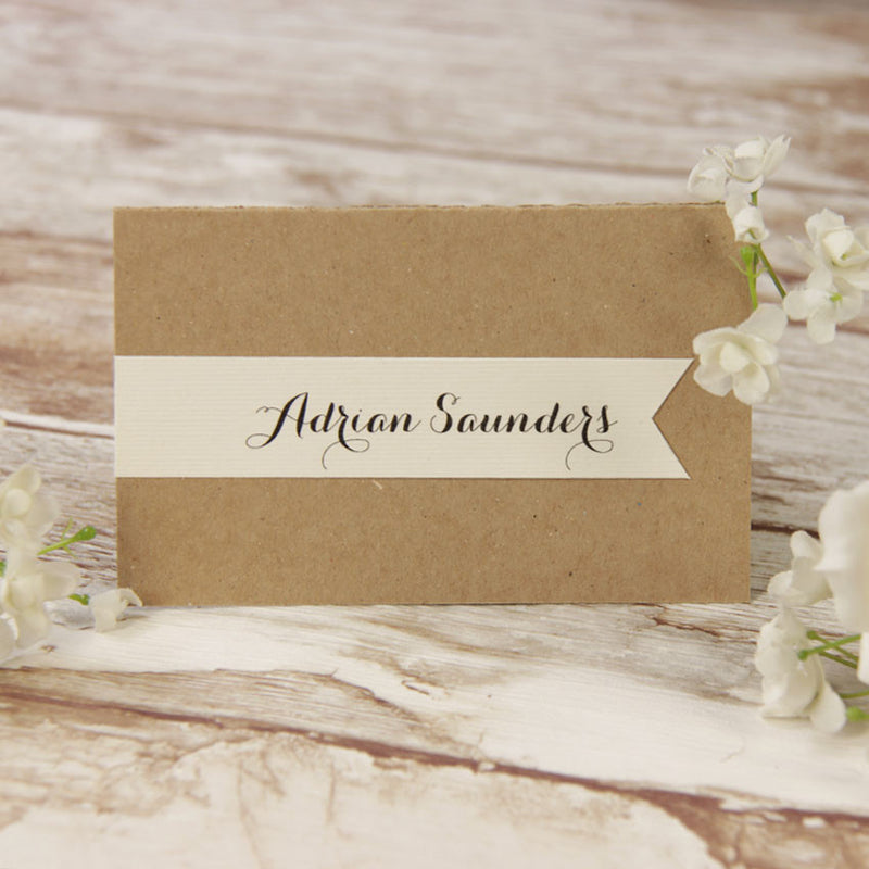 Rustic Flower Wedding Place Card