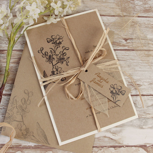 ... Kraft Paper Rustic Wedding Day Invitation ...