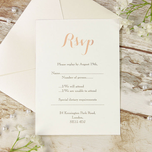 Soft Pink Lace Rustic Wedding Save the Date / Thank You / Reply Card