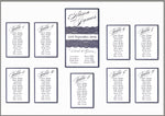 Vintage Navy Blue Lace Rustic Wedding Table Plan