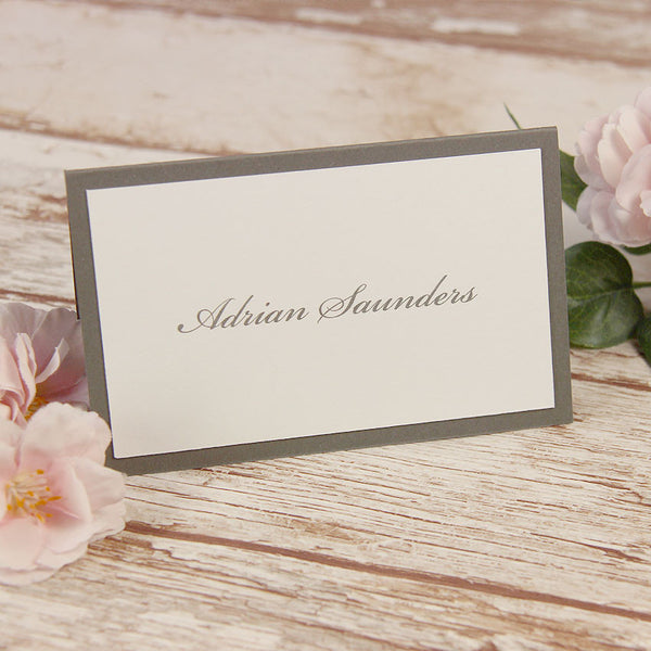 White Lace Pocketfold Rustic Chic Place Card