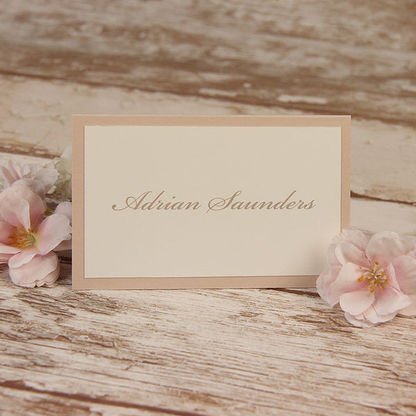Delicate White Lace Place Card