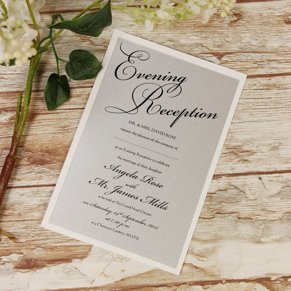 Silver Lace Evening Invitation