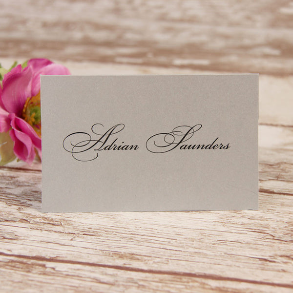 Silver Lace Place Card