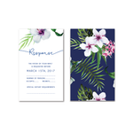 Tropical Botanical Watercolour Reply Card, Rsvp