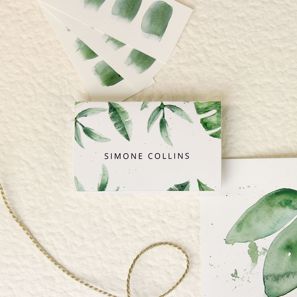 Tropical Forest Watercolour Place Card