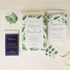 Tropical Forest Watercolour Wedding Save the Date / Thank You / Reply Card