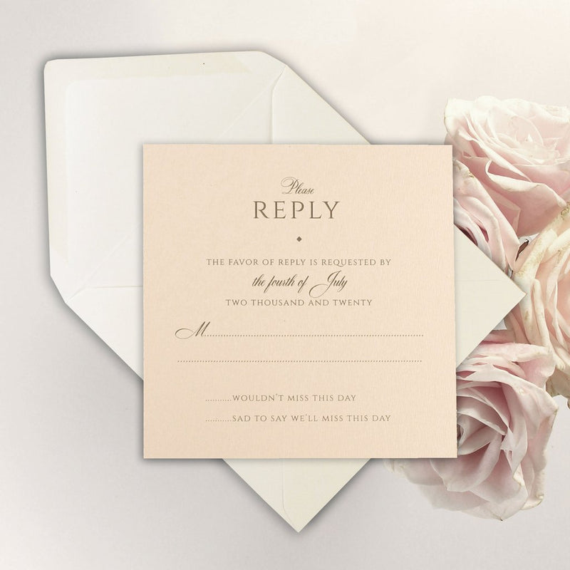 RSVP to Match Gold Glitter Sparkle Laser cut Set Wedding Invitation with Monogram Belly Band