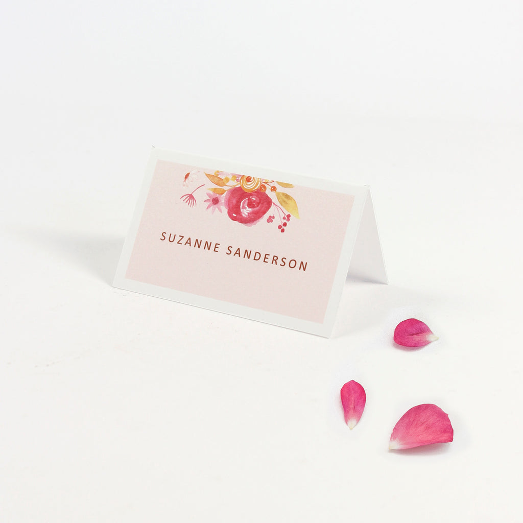 Boho Botanic Place Card