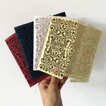 DIY - Regal Golden and Many Colours Gatefold - Luxury Laser Cut Pocket Invitation Cover