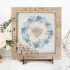 LIGHTENED OAK SMALL FRAME - Delicate Alternative Personalised drop box Guest Book
